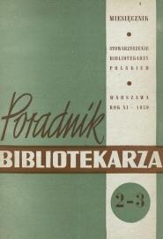 Poradnik Bibliotekarza 1959, nr 2-3