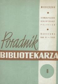 Poradnik Bibliotekarza 1959, nr 8