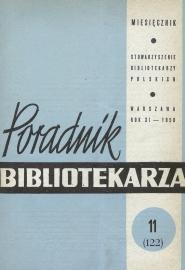 Okładka Poradnik Bibliotekarza 1959, nr 11