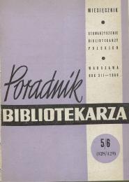Poradnik Bibliotekarza 1960, nr 5-6
