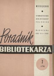 Poradnik Bibliotekarza 1960, nr 7