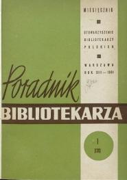 Poradnik Bibliotekarza 1961, nr 1