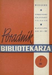 Okładka Poradnik Bibliotekarza 1961, nr 2