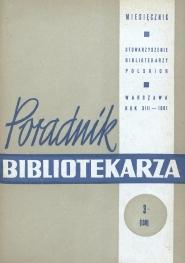 Okładka Poradnik Bibliotekarza 1961, nr 3