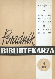 Poradnik Bibliotekarza 1961, nr 5-6