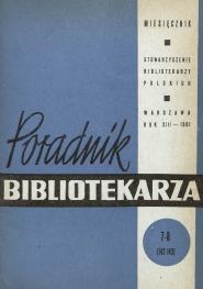 Poradnik Bibliotekarza 1961, nr 7-8