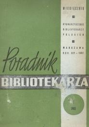 Poradnik Bibliotekarza 1962, nr 1