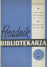Poradnik Bibliotekarza 1962, nr 2