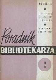 Poradnik Bibliotekarza 1962, nr 10