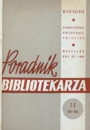 Poradnik Bibliotekarza 1963, nr 2-3