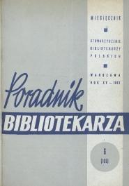 Poradnik Bibliotekarza 1963, nr 6