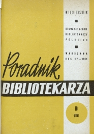Poradnik Bibliotekarza 1963, nr 10