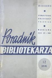 Okładka Poradnik Bibliotekarza 1964, nr 1-2