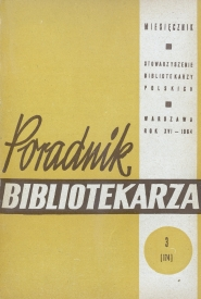 Okładka Poradnik Bibliotekarza 1964, nr 3