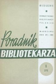 Okładka Poradnik Bibliotekarza 1964, nr 6
