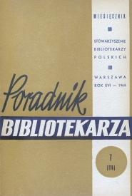 Poradnik Bibliotekarza 1964, nr 7