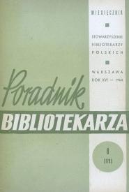 Poradnik Bibliotekarza 1964, nr 8