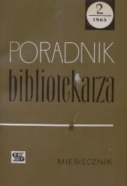 Okładka Poradnik Bibliotekarza 1965, nr 2