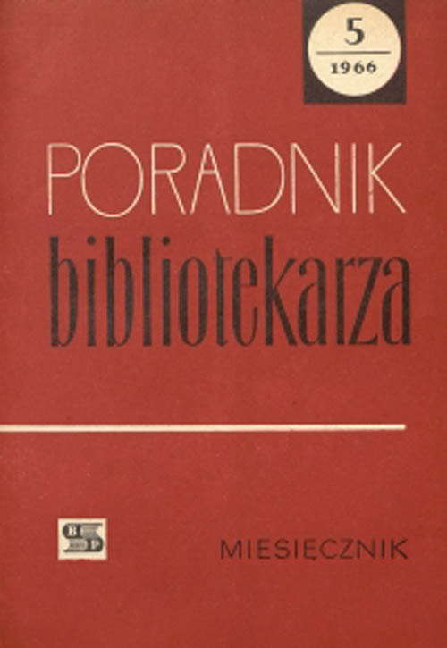 Poradnik Bibliotekarza 1966, nr 5