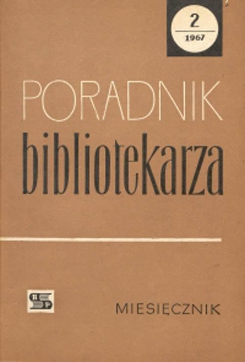 Poradnik Bibliotekarza 1967, nr 2