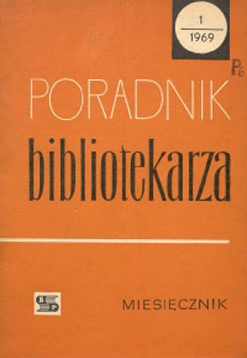Okładka Poradnik Bibliotekarza 1969, nr 1