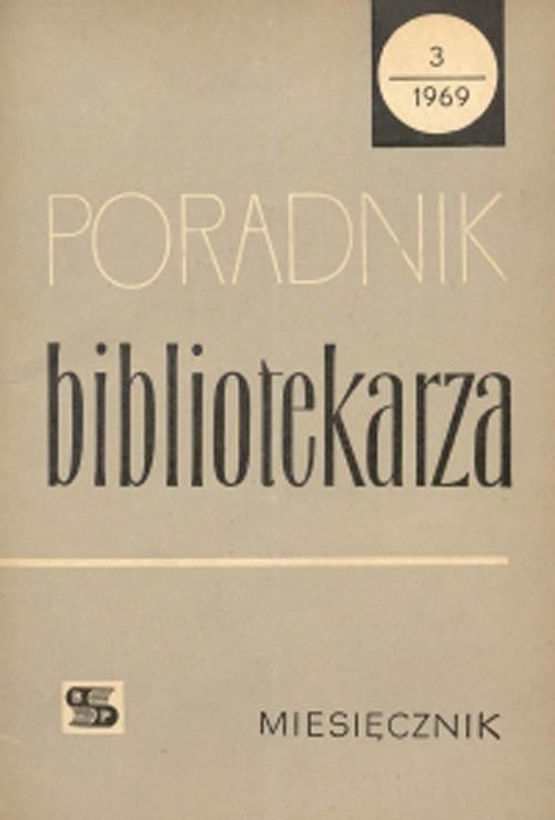 Okładka Poradnik Bibliotekarza 1969, nr 3