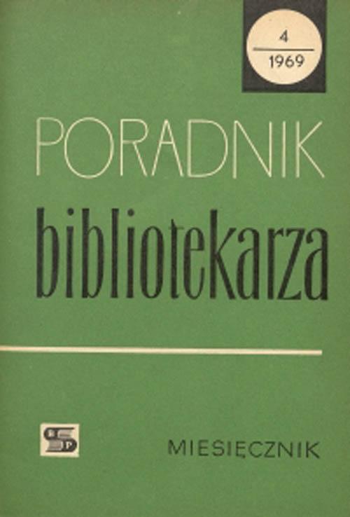 Okładka Poradnik Bibliotekarza 1969, nr 4