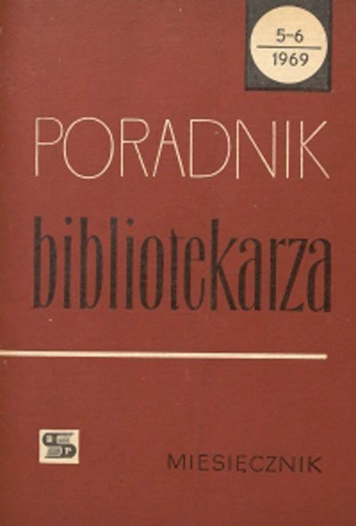 Okładka Poradnik Bibliotekarza 1969, nr 5-6