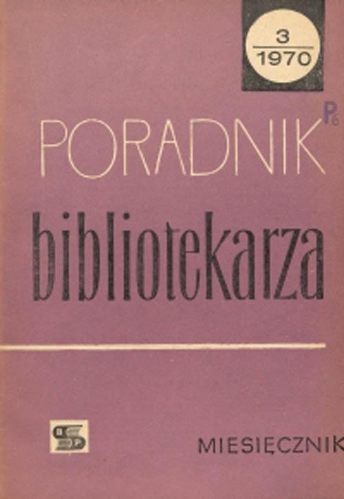 Poradnik Bibliotekarza 1970, nr 3