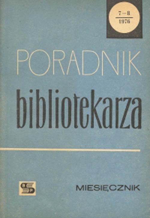 Okładka Poradnik Bibliotekarza 1976, nr 7-8