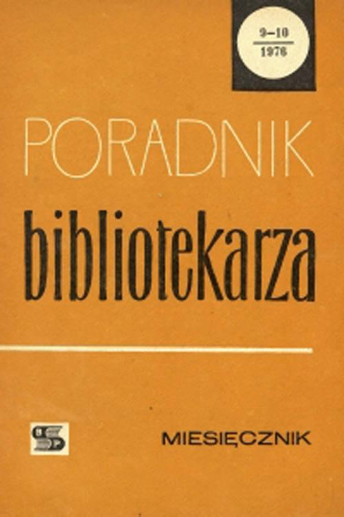 Okładka Poradnik Bibliotekarza 1976, nr 9-10