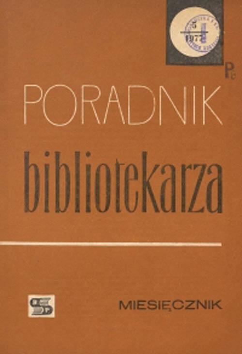 Okładka Poradnik Bibliotekarza 1977, nr 5