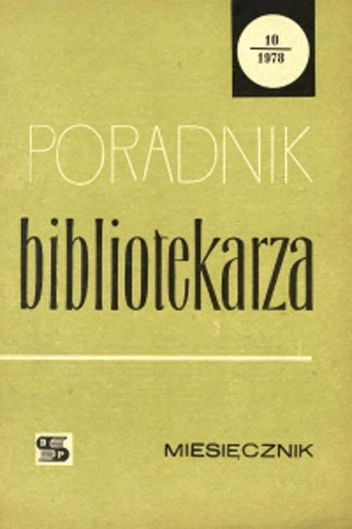 Poradnik Bibliotekarza 1978, nr 10