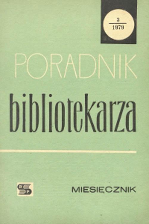 Poradnik Bibliotekarza 1979, nr 3