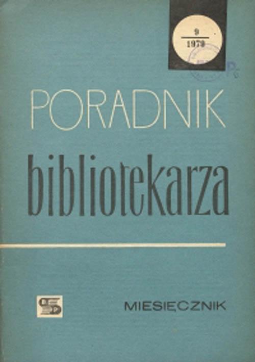 Poradnik Bibliotekarza 1979, nr 9