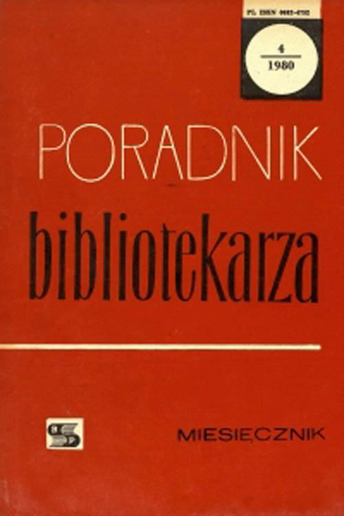 Okładka Poradnik Bibliotekarza 1980, nr 4
