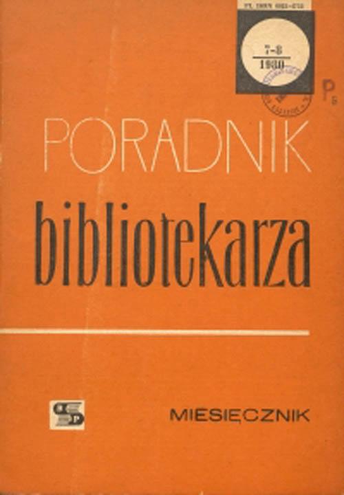 Poradnik Bibliotekarza 1980, nr 7-8