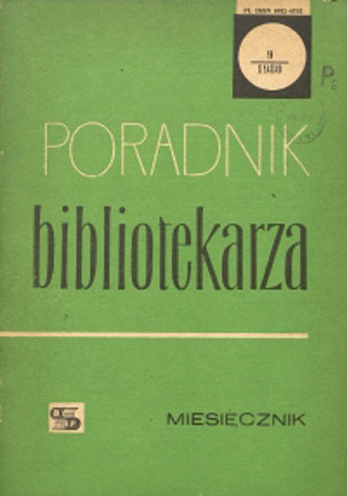Poradnik Bibliotekarza 1980, nr 9