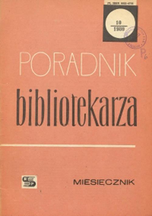 Okładka Poradnik Bibliotekarza 1980, nr 10