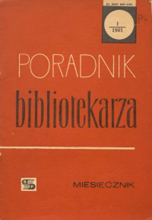 Okładka Poradnik Bibliotekarza 1981, nr 1