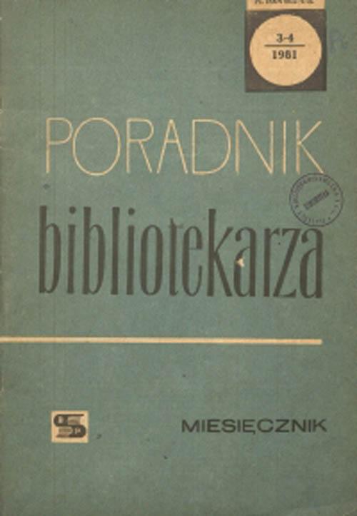Poradnik Bibliotekarza 1981, nr 3-4