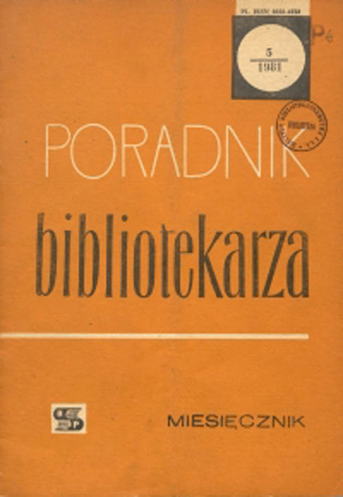Okładka Poradnik Bibliotekarza 1981, nr 5