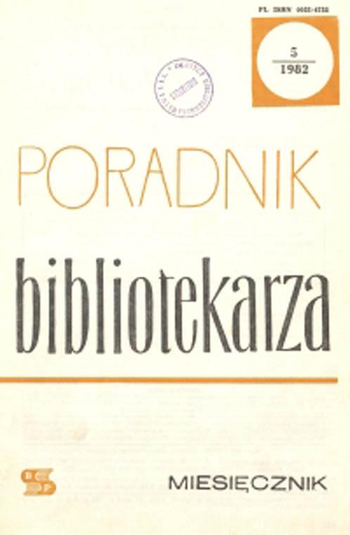 Okładka Poradnik Bibliotekarza 1982, nr 5