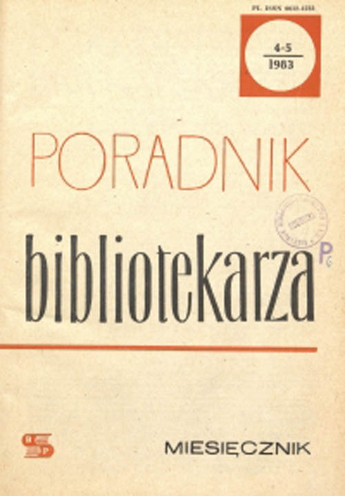 Poradnik Bibliotekarza 1983, nr 4-5