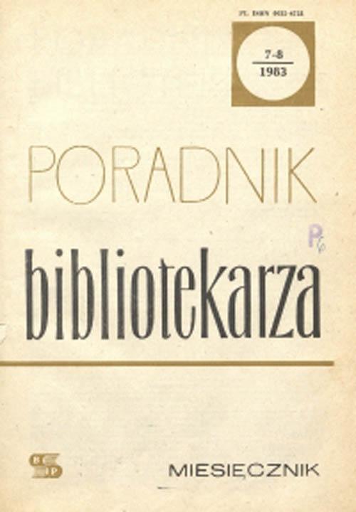Poradnik Bibliotekarza 1983, nr 7-8