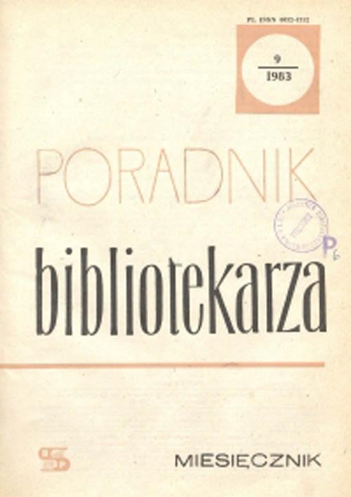 Poradnik Bibliotekarza 1983, nr 9
