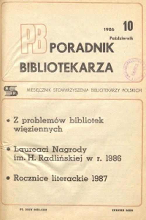 Poradnik Bibliotekarza 1986, nr 10