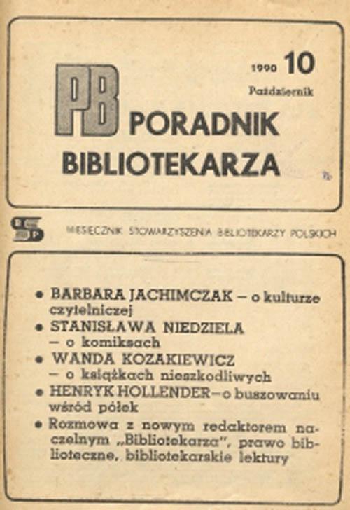 Poradnik Bibliotekarza 1990, nr 10