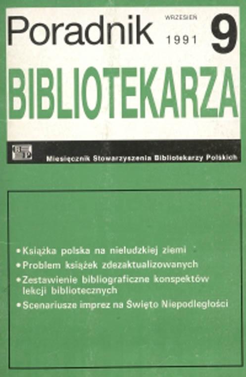 Okładka Poradnik Bibliotekarza 1991, nr 9
