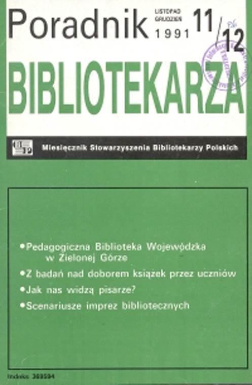 Okładka Poradnik Bibliotekarza 1991, nr 11-12
